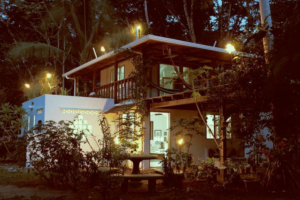 Casa Oceanside at dusk