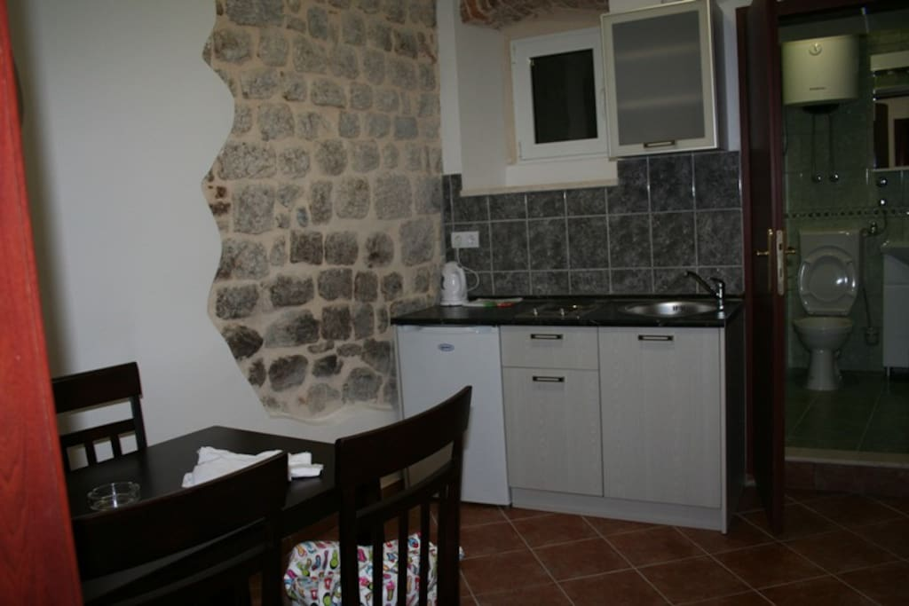 Apartment I is a one bedroom apartment for two persons in which there is a separate kitchen with dining room and separate bathroom.