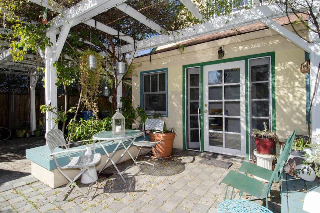 The Patio is a great place for morning coffee or tea.