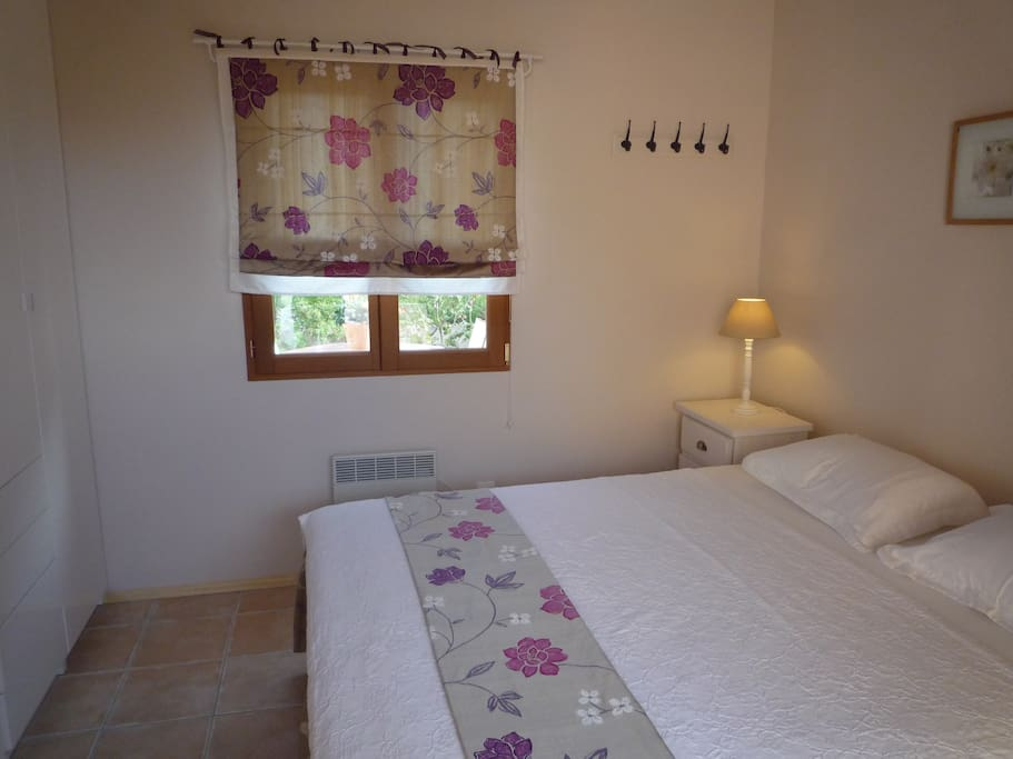 Lovely double bedroom with very comfortable bed and plenty of wardrobe space.