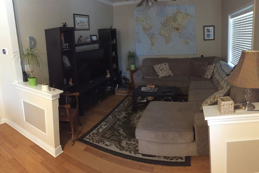 Living space. Also with AppleTV.
