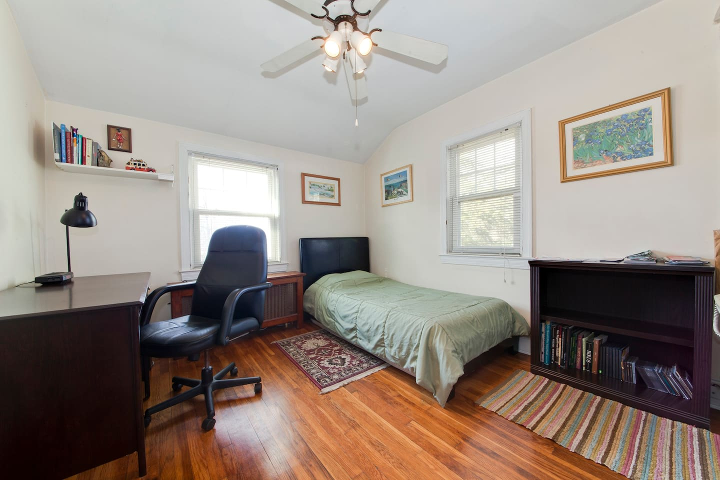 Your room, with a desk, chair, WIFI and high speed internet connection