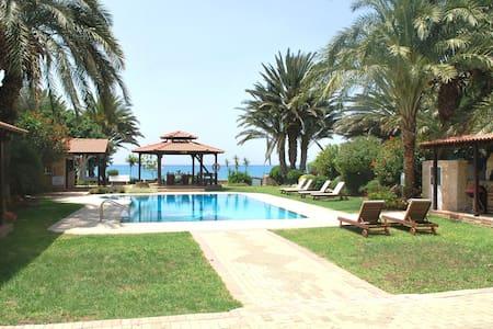 Superb 6 Bedroom Sea Front Villa Sleeps 14 - Argaka - Huvila