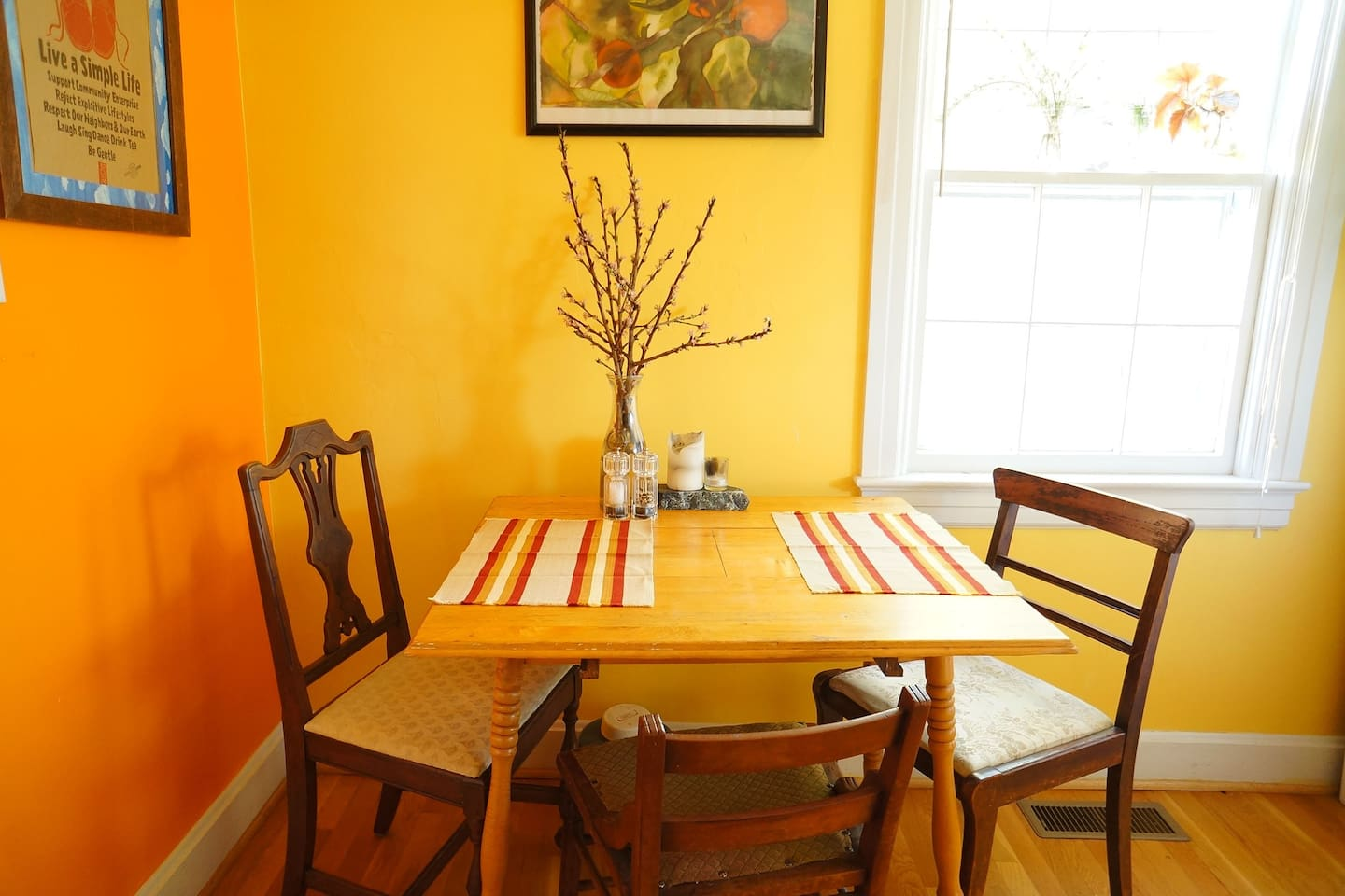 Colorful and eclectic eat in kitchen