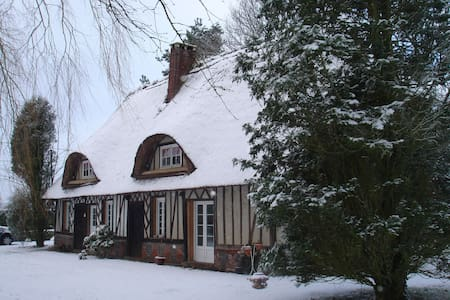Lovely thatched cottage in Normandy - Plasnes - House