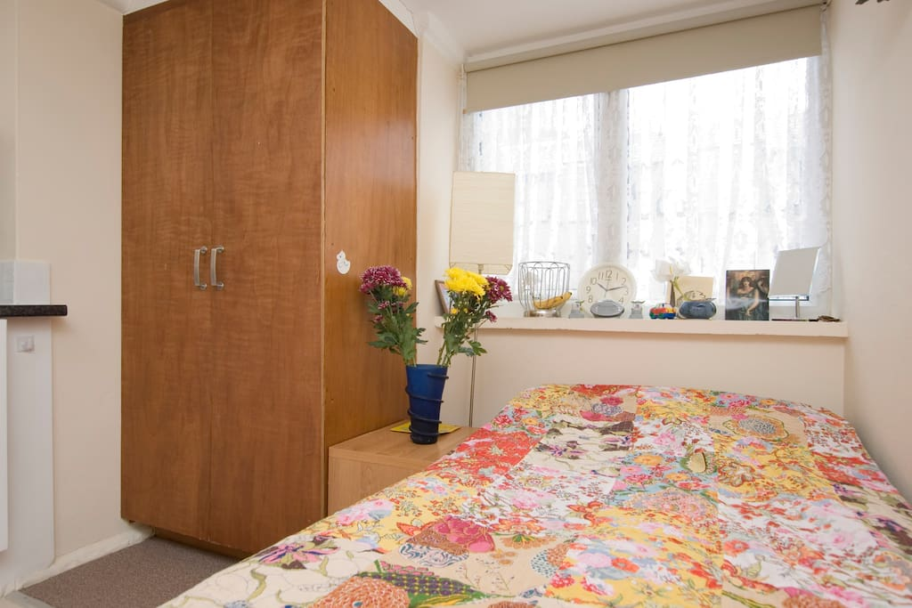 Double bed Large window.