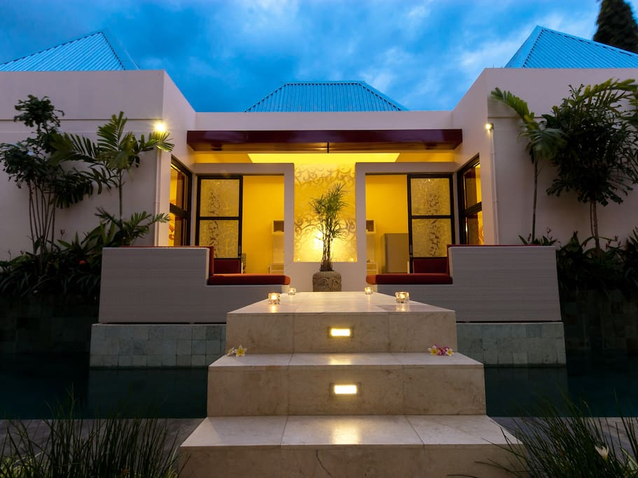 Welcome to the Poolside Suite at Bali Ginger Suites with fully equipped kitchen.