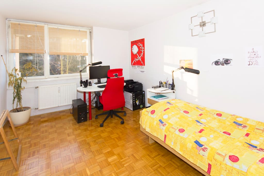 Small but cosy room for your Ljubljana stay.
