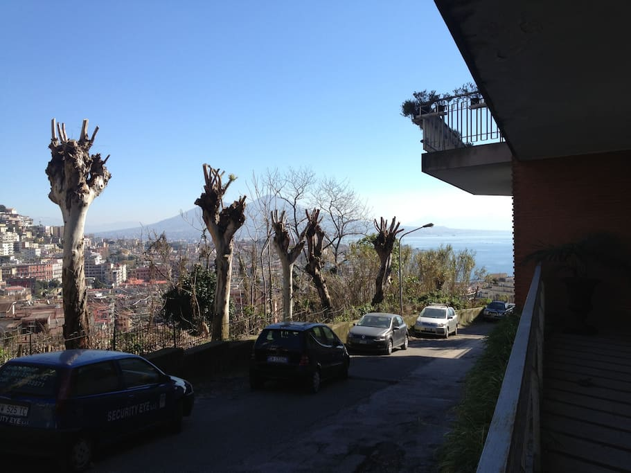 View of Naples Bay from the entrance of apartment