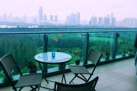 Sea View Luxury Apartment Downtow - Shenzhen - Lägenhet