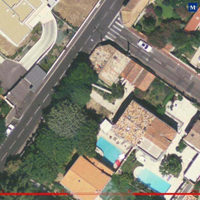 maison 2, rue Abert, 34090 Montpellier: en haut, sous la voiture blanche
