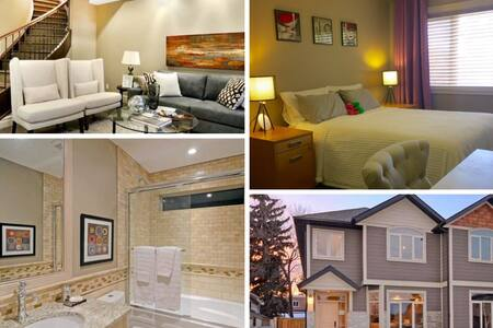 Beautiful private Bedroom with lock Inner city YYC - Calgary - House