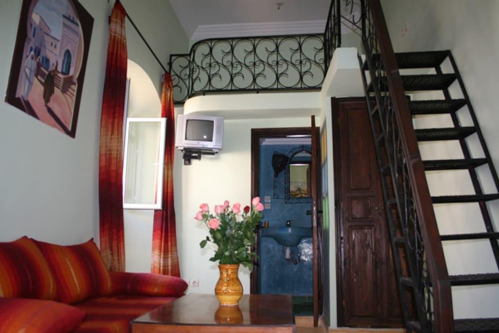 chambre triple avec mezanine