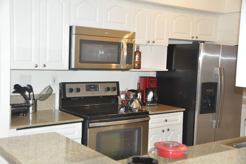Satinless steel kitchen