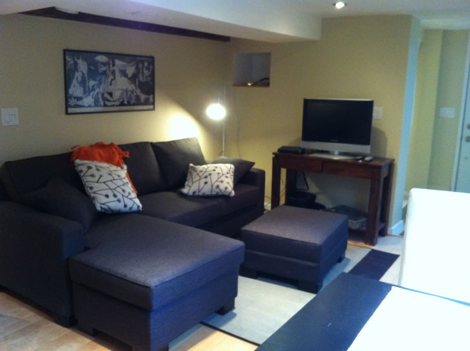 pull out couch for the extra guests