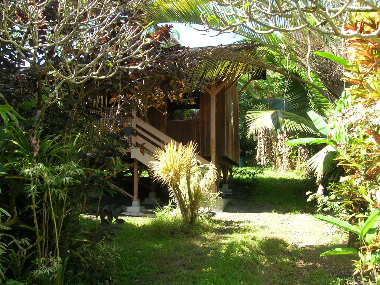 Rustic charm and tropical lushness.
