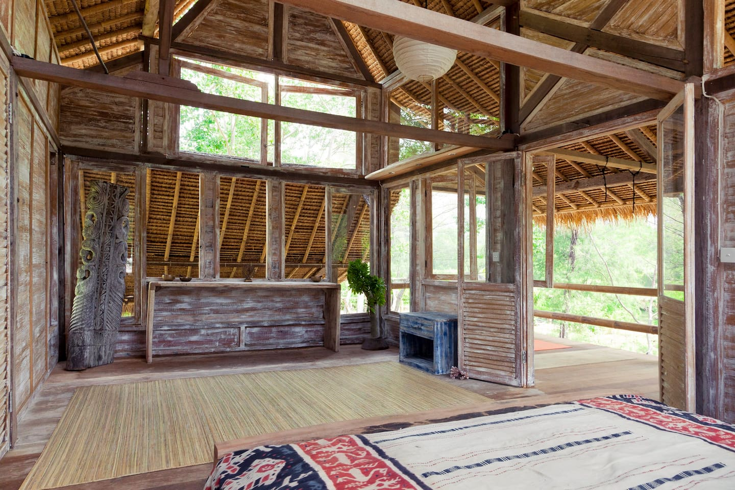 View of the room and veranda