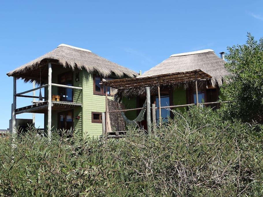 Las Bossas, Beach Cabins in Punta del Diablo, Uruguay. Best Sea Views!
