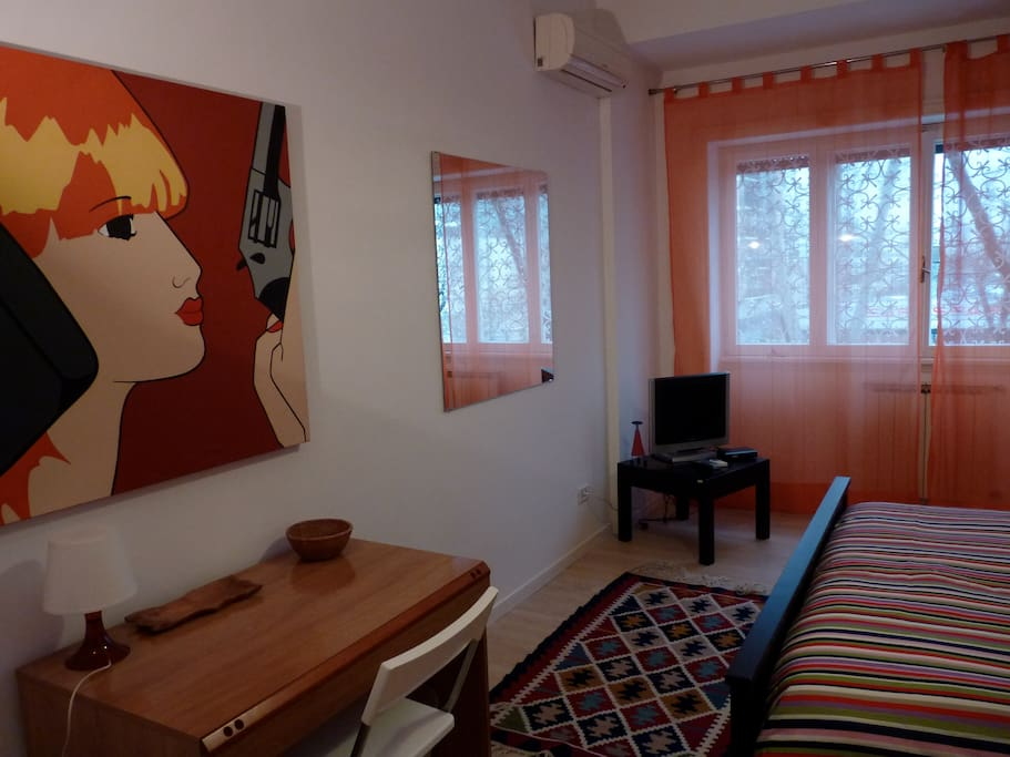 double/tripl room near trastevere s