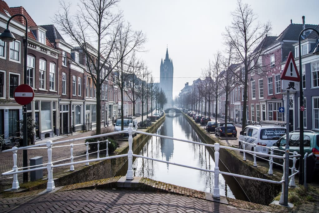 "streetview: ""oude delft"" (just around the corner)"