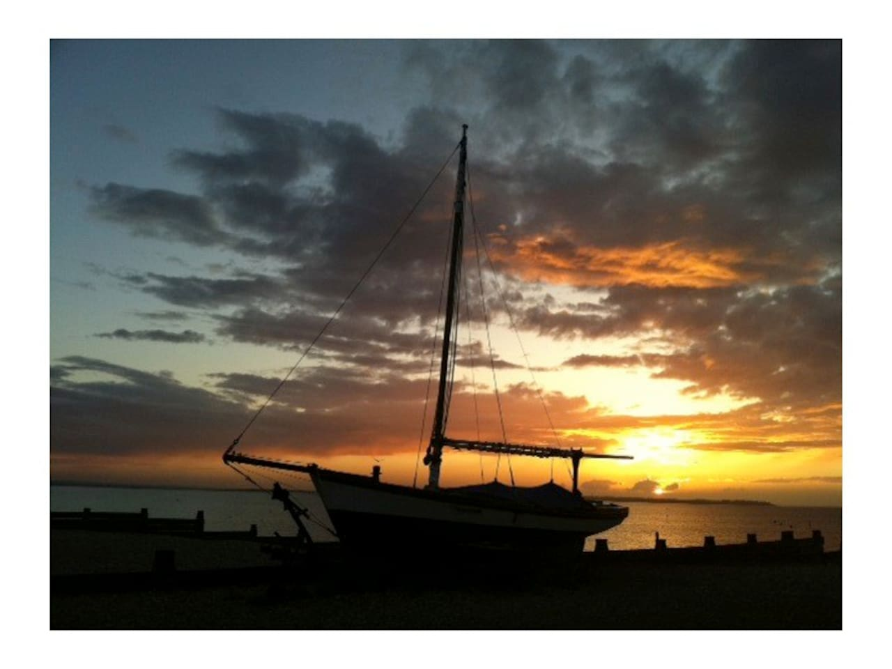 Whitstable beach has the most beautiful sunsets and is just over an hour from London.