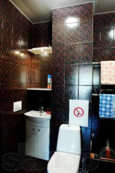 ванная комната совмещена с туалетом