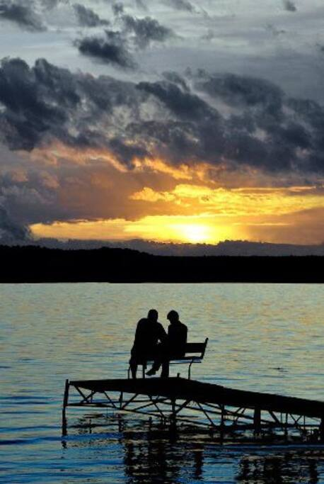 A romantic and undeveloped lake