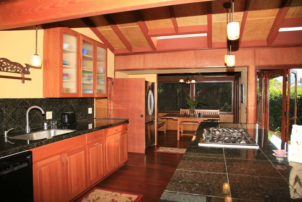 kitchen and screened in lanai
