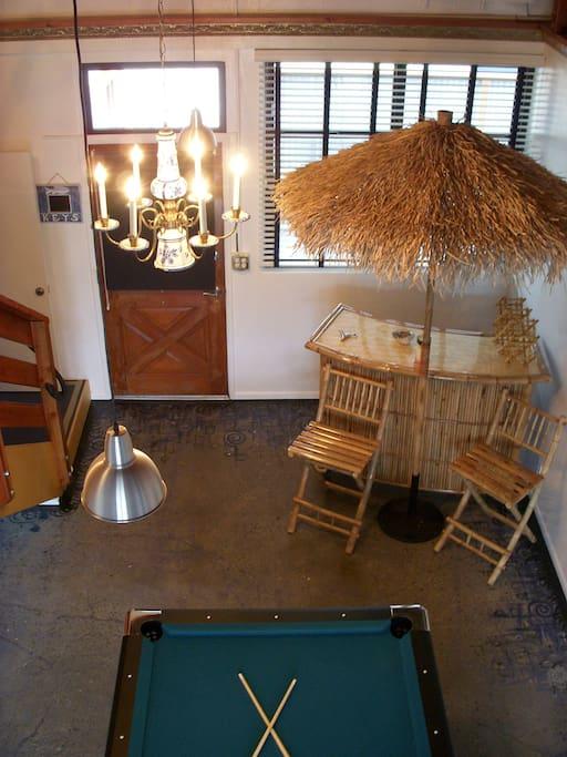 Billiard Room with Tiki Bar