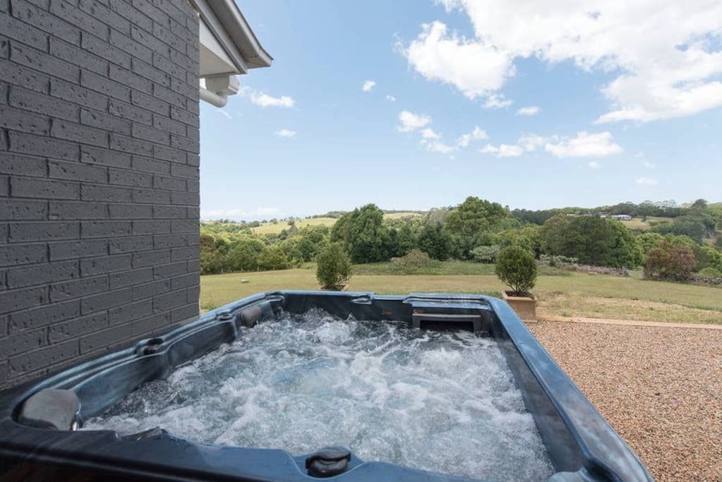 Watch the stars at night from the hot tub