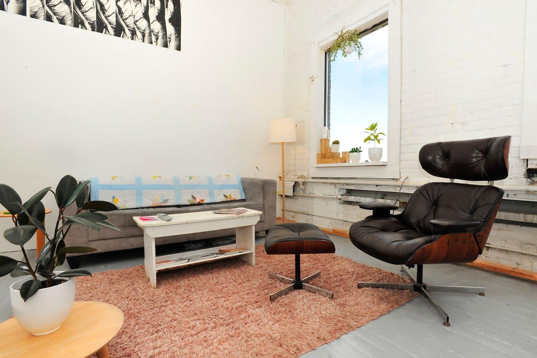 Unique open concept loft space