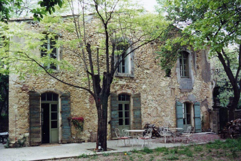 House seen from walled garden