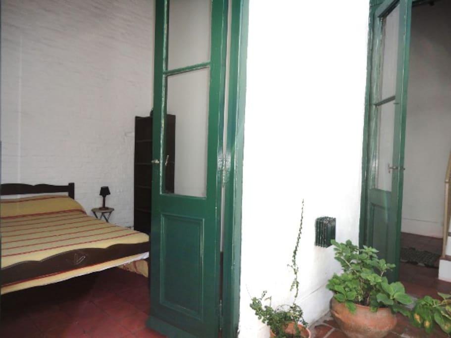 Groundfloor double bed
