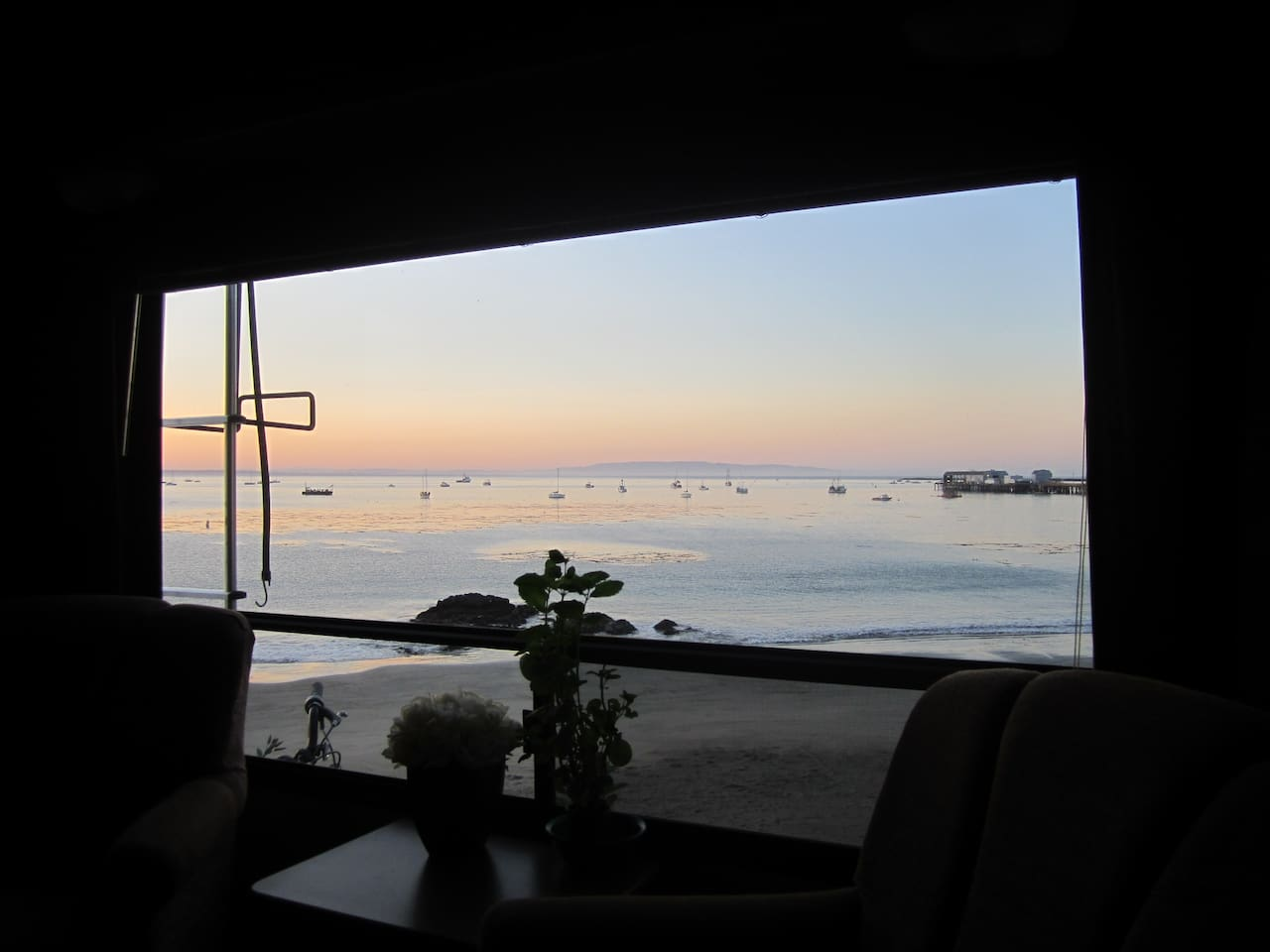 Your sunset view from from the rear bay window. Avila Beach, California