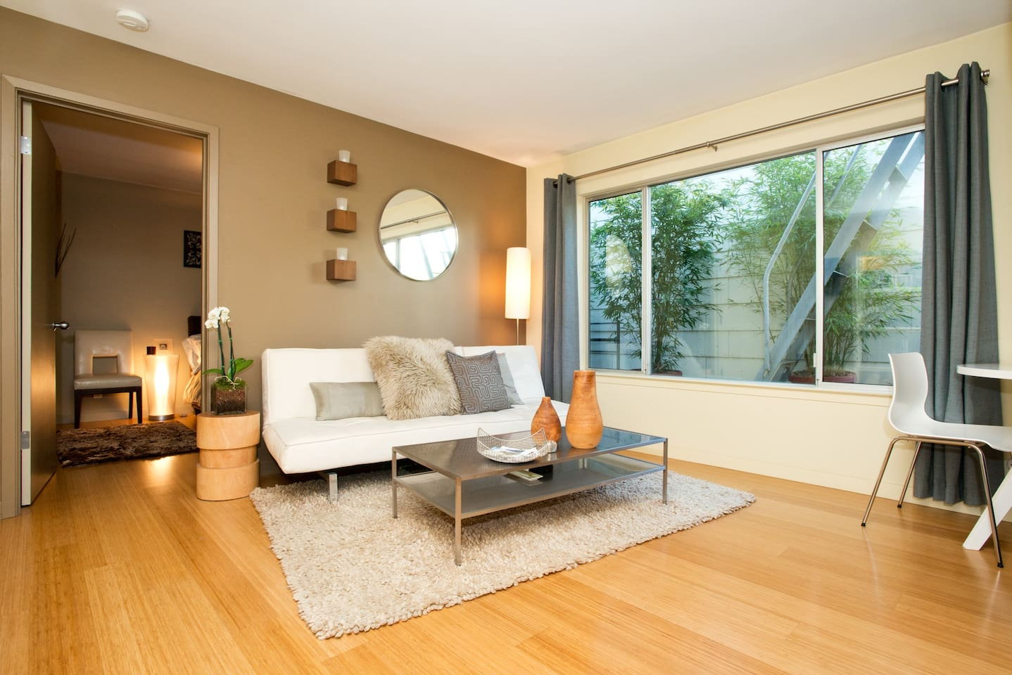 Modern furnishings in a clean, efficient space to call your own.