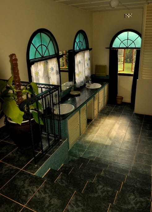 Twiga Suite little gem of a graceful bathroom with views of the Ngong Hills