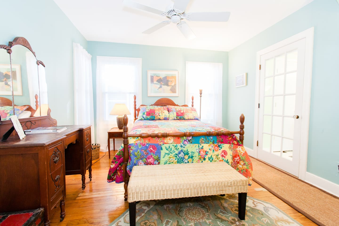 The beautifully decorated, well appointed bedroom--your home away from home!