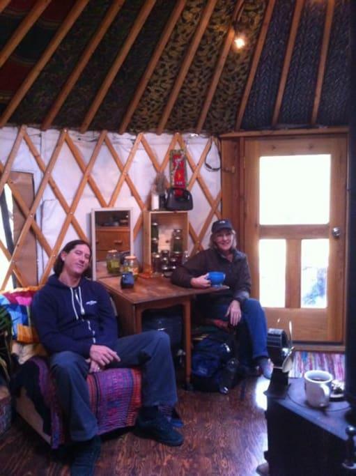 Yurt cottage