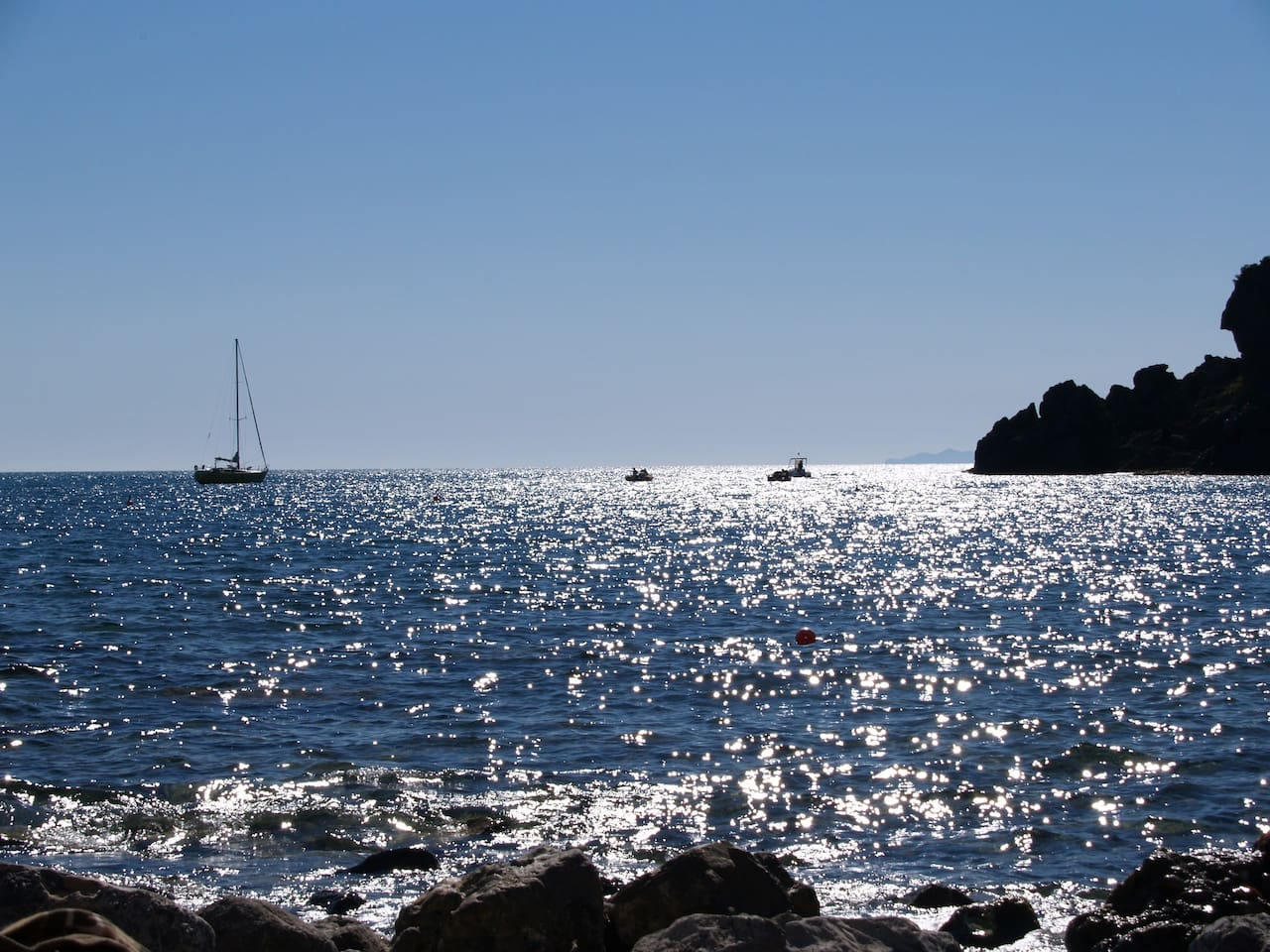 The Mediterranean is always amazing, in any season. What a treat to be able to enjoy this whenever you like..