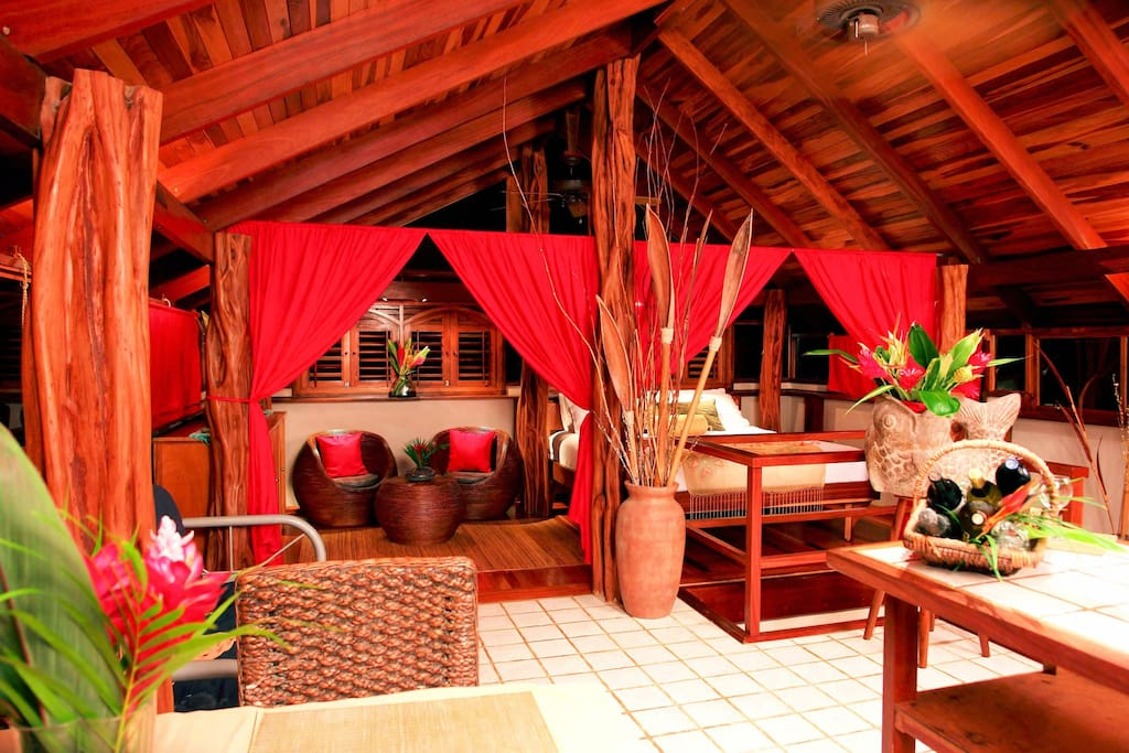Upstairs Bedroom at Honeymoon Villa - Red Palm Villas Costa Rica