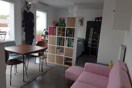 Nice and great studio (metro at 3 minutes) terrace - Apartment