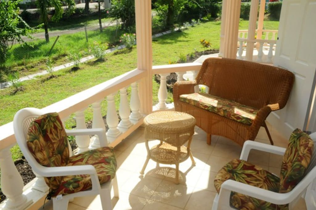 enjoy the cool intoxicating island breeze on your own private patio