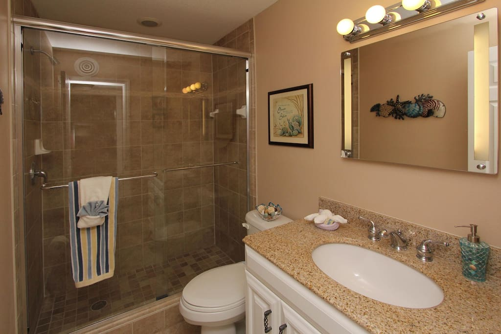 "A walk-in shower and a big vanity to ""glam,""..."