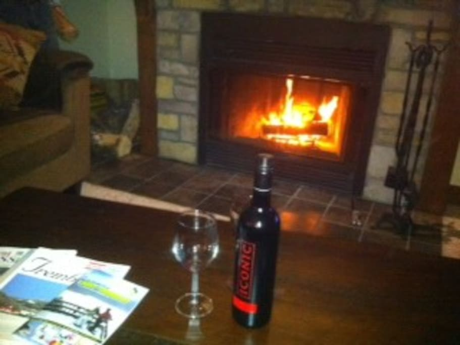 Enjoy the fireplace during the colder months