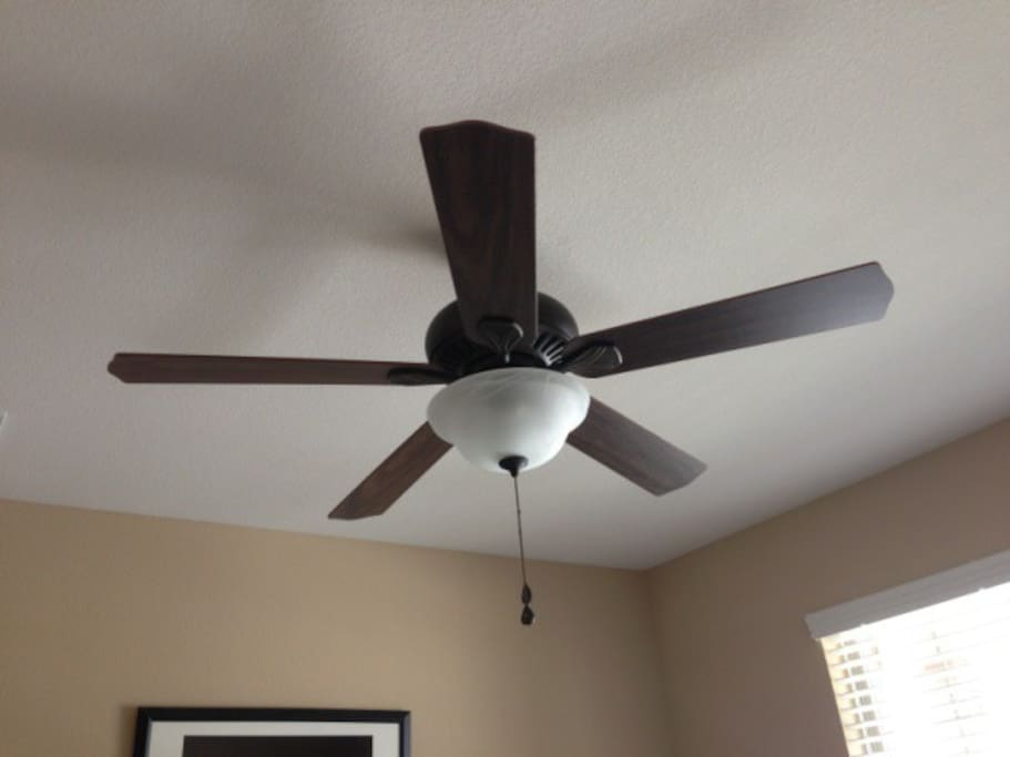 Remote controlled ceiling fan for your comfort
