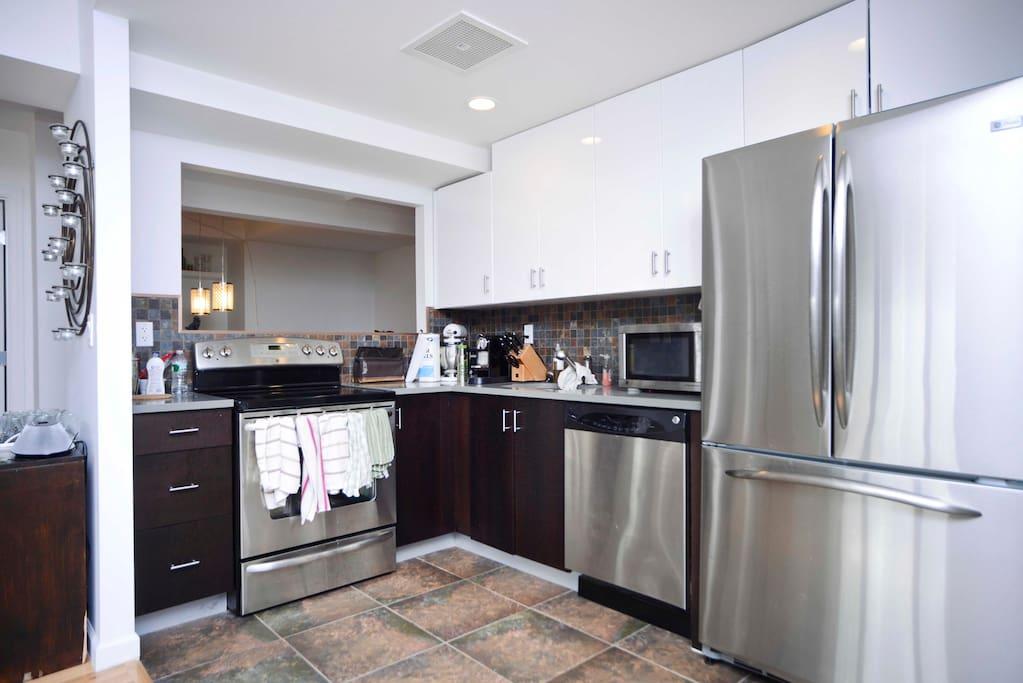 Large modern open kitchen