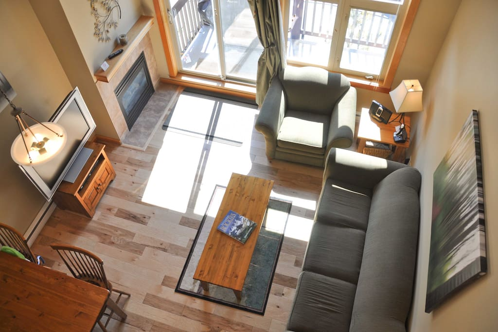 View from the loft looking down.