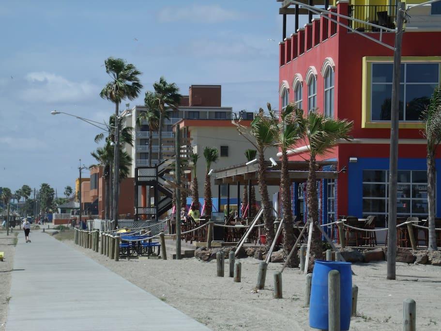 Fajitaville Restaraunt and Bar on the beach. Walking distance from Condo