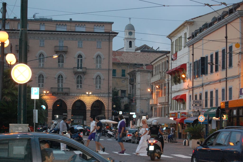 Piazza Colombo, the heart of Sanremo