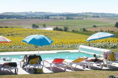 Roulotte avec jardin et piscine - Pauilhac - Camper/RV